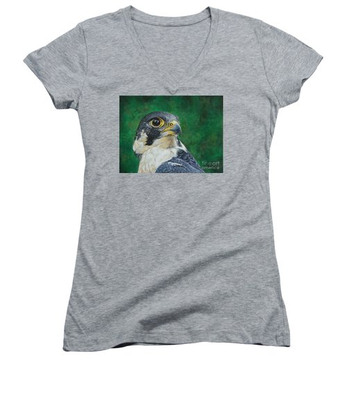 The Proud Peregrine....fastest Creature On The Planet Women's V-Neck