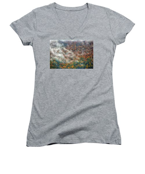 Women's V-Neck (Athletic Fit) featuring the photograph The Shoulder Of Greylock by Raymond Salani III