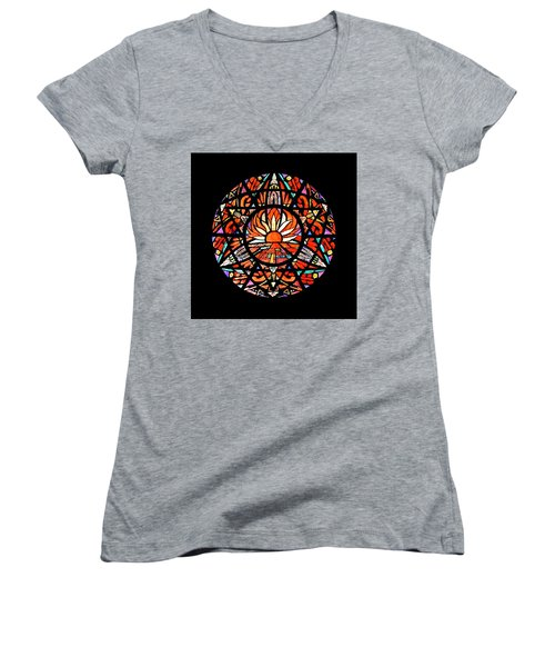 the Sun is Aflame Women's V-Neck