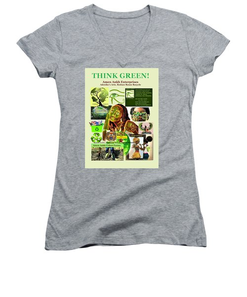 Think Green Women's V-Neck