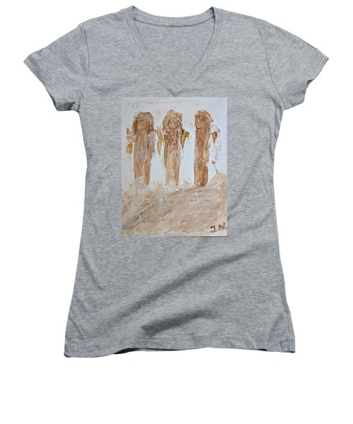 Three Little Muddy Angels Women's V-Neck