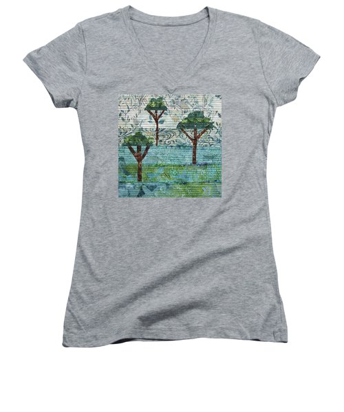 Three Trees Women's V-Neck