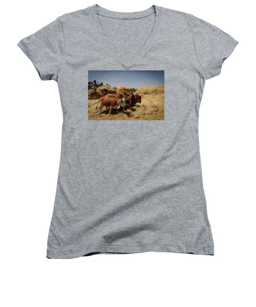Threshing Women's V-Neck