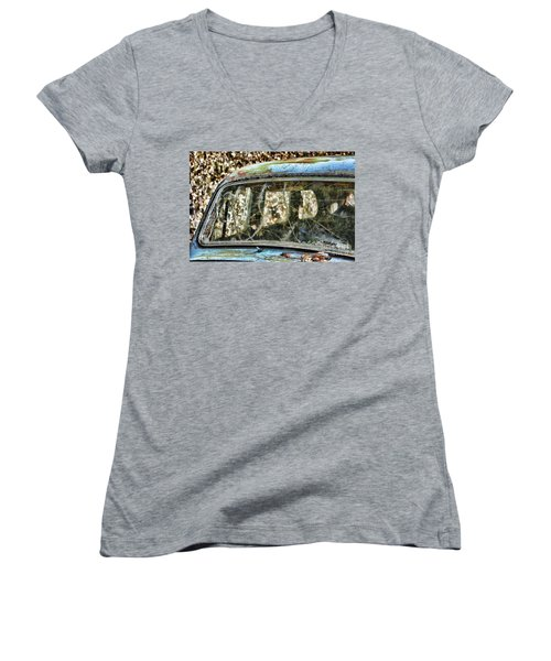 Through The Windshield Women's V-Neck