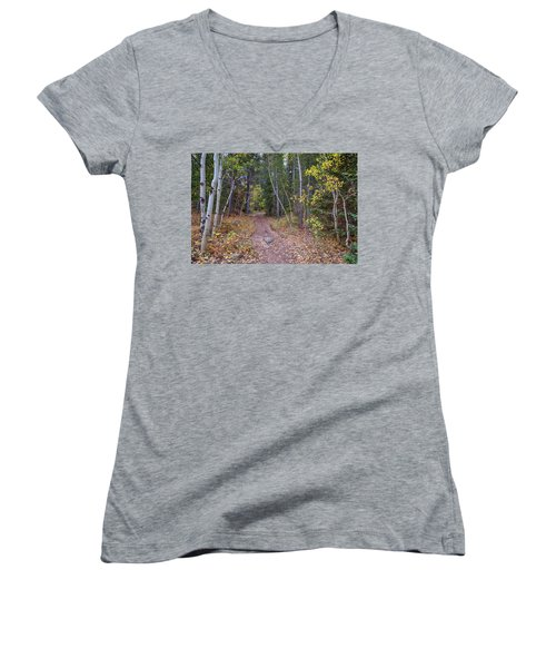 Women's V-Neck featuring the photograph Trailhead by James BO Insogna