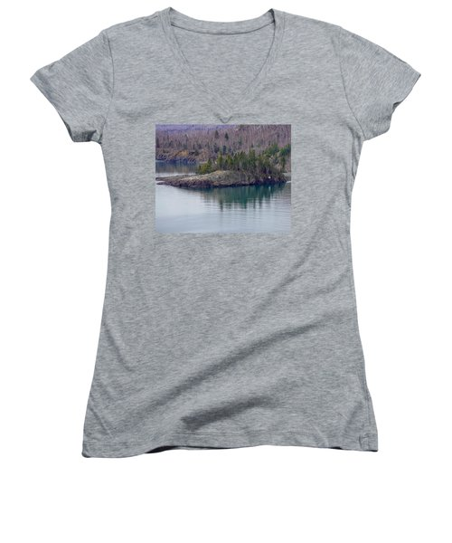 Tranquility In Silver Bay Women's V-Neck