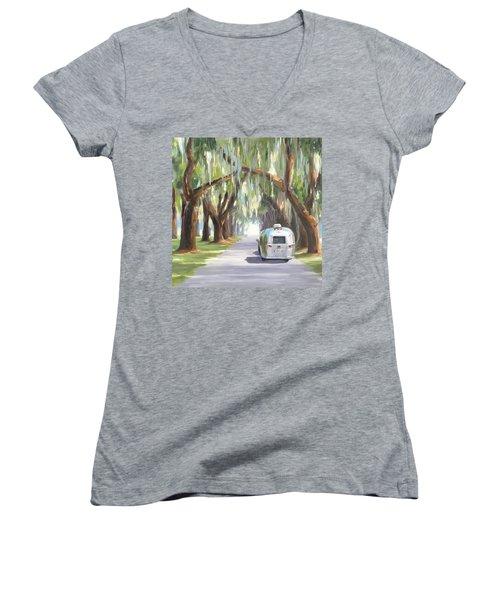 Tree Tunnel Women's V-Neck