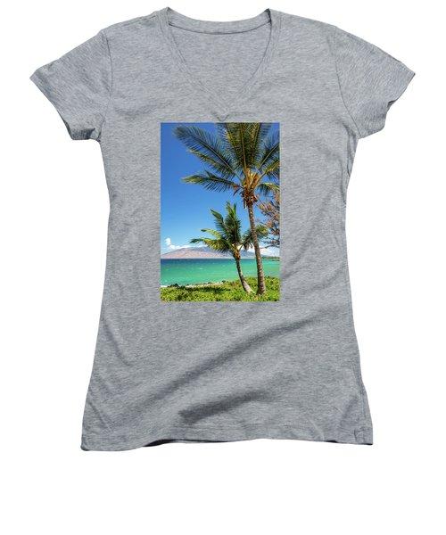 Tropical Aloha Women's V-Neck