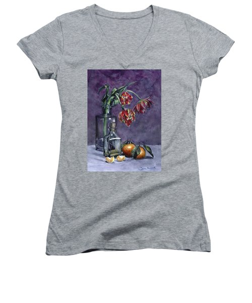 Tulips And Oranges Women's V-Neck