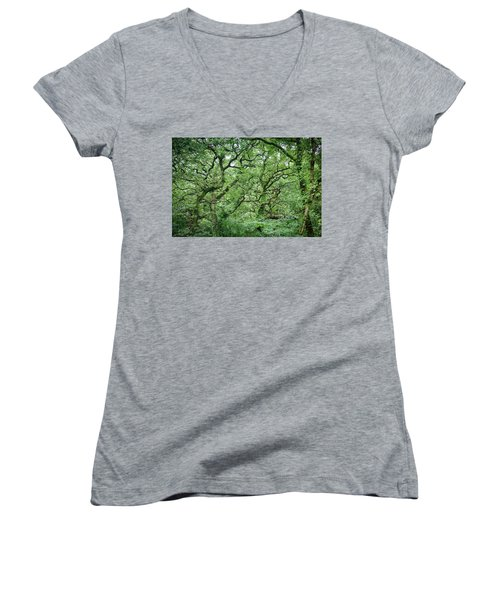 Twisted Forest Full Color Women's V-Neck
