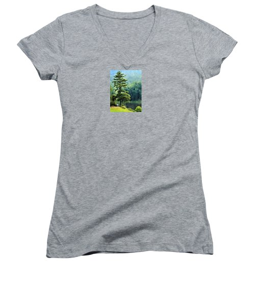 Two Guys And A Pond Women's V-Neck