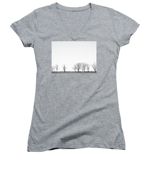 Under A Winter Sky Women's V-Neck