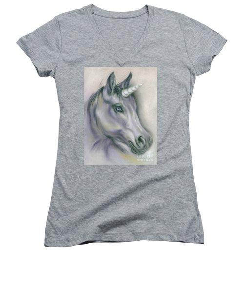 Unicorn Portrait Women's V-Neck