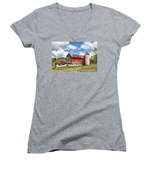 Vermont Barn And Silo  Women's V-Neck