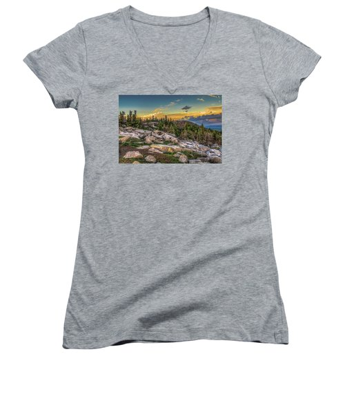 View From Dolly Sods 4714 Women's V-Neck