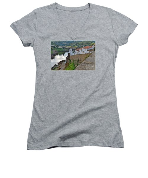 View From The Medieval Castle Women's V-Neck