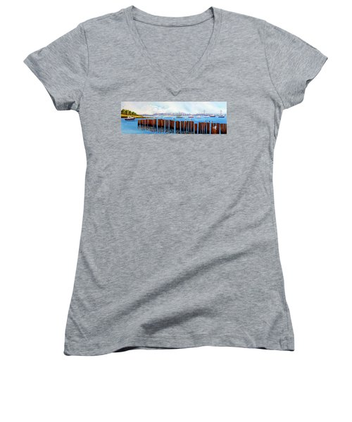 View From The Moshier's Tiki Bar Women's V-Neck