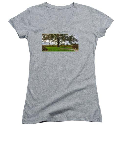 Walnut Woods Tree - 1 Women's V-Neck