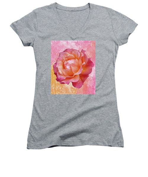Warm And Crunchy Rose Women's V-Neck