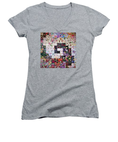 Watercolor Swirl Women's V-Neck