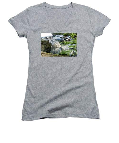 Waterfall At The Old Mill  Women's V-Neck