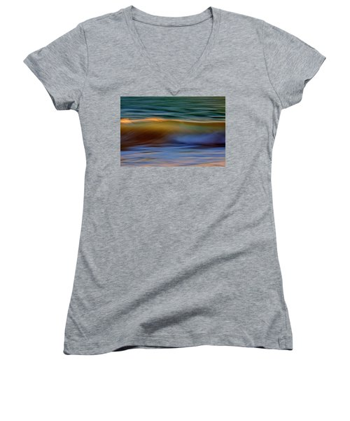 Wave Abstact Women's V-Neck