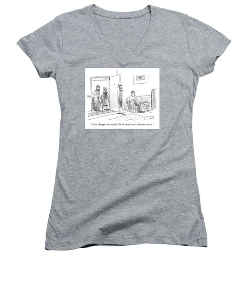 We Do Want To Be A Burden To You Women's V-Neck