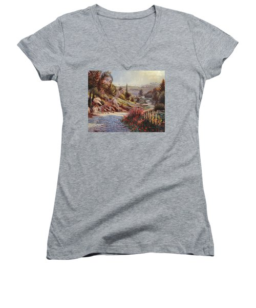 We Will Walk In His Paths 2 Women's V-Neck