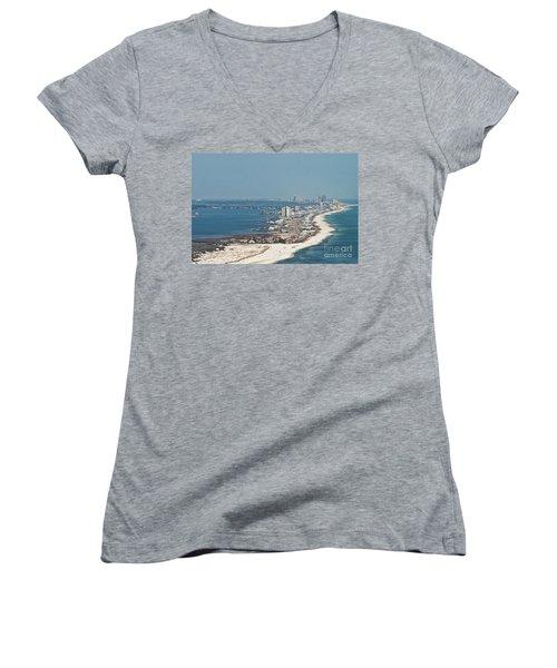 West Beach-1 Women's V-Neck