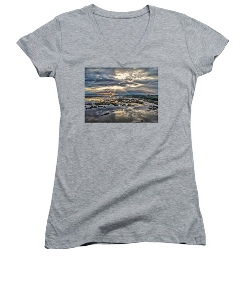 Whale Branch - Angel Rays Women's V-Neck