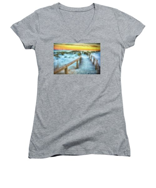 Where The Path Leads Women's V-Neck