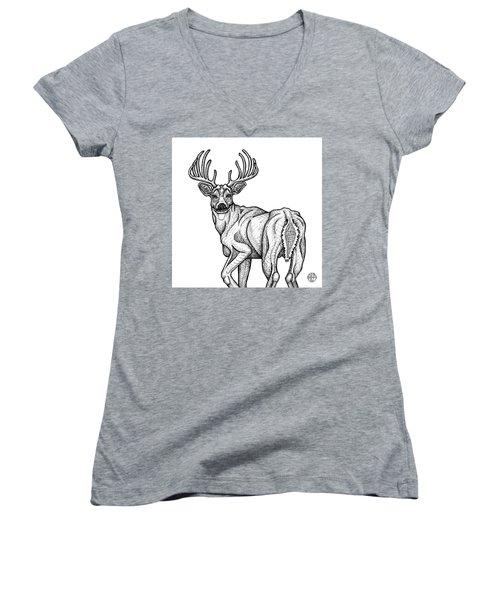 White Tailed Buck Women's V-Neck
