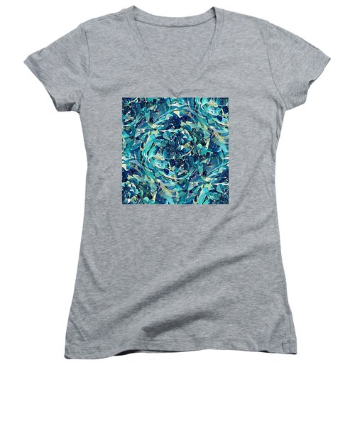 Winter Floral Women's V-Neck