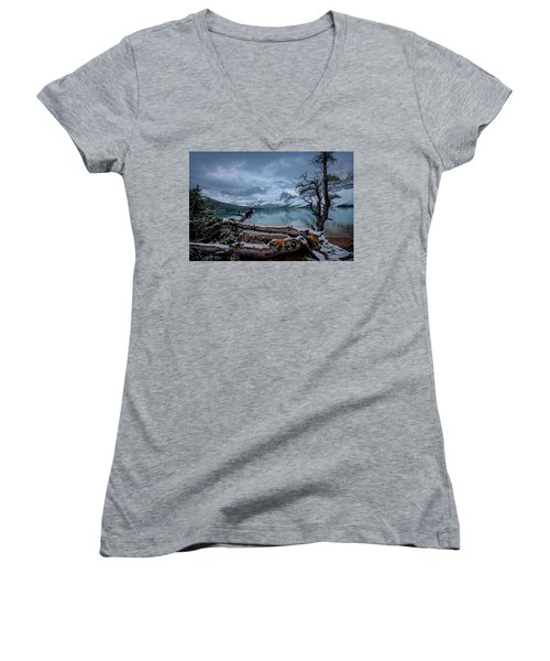 Winter Is Coming Bow Lake Women's V-Neck