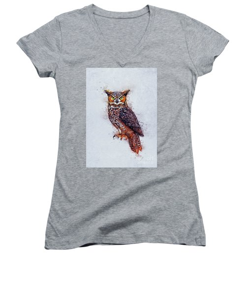 Wise Owl Women's V-Neck