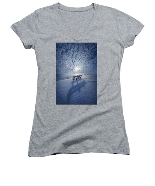 Within The Absence Are The Memories Women's V-Neck