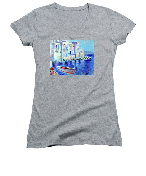 Wondrous Mykonos  Women's V-Neck