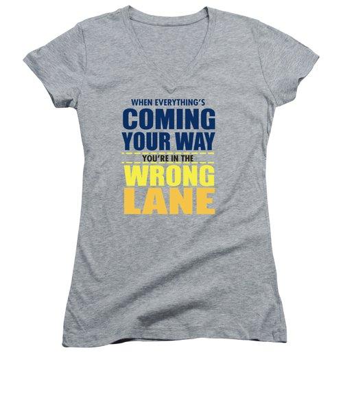 Wrong Lane Women's V-Neck