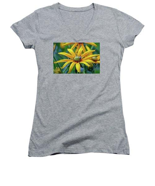 Yellow Flower Women's V-Neck