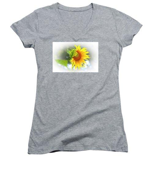 Yellow Petals Of Sunshine Women's V-Neck
