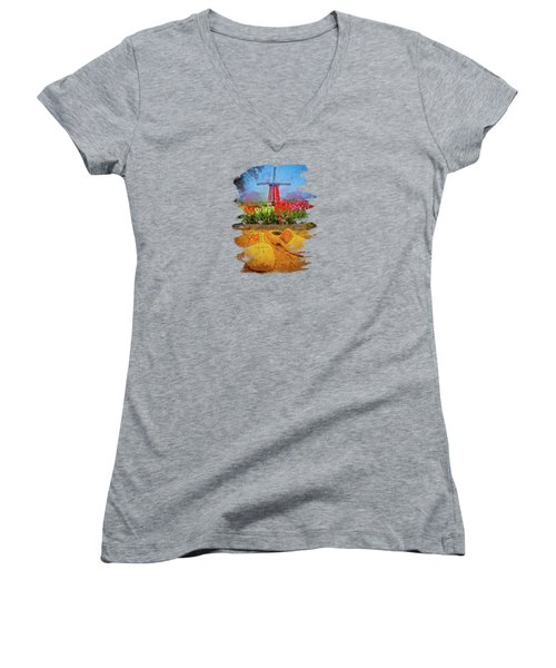 Yellow Wooden Shoes Women's V-Neck
