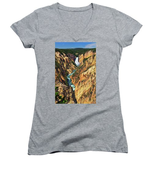 Yellowstone Grand Canyon From Artist Point Women's V-Neck