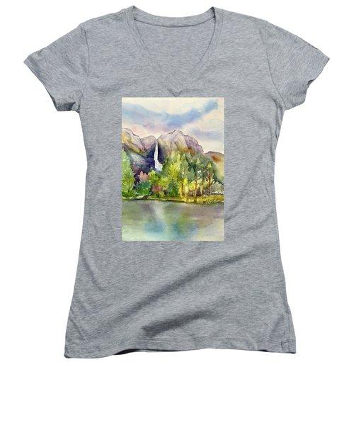 Yosemite Waterfalls Women's V-Neck