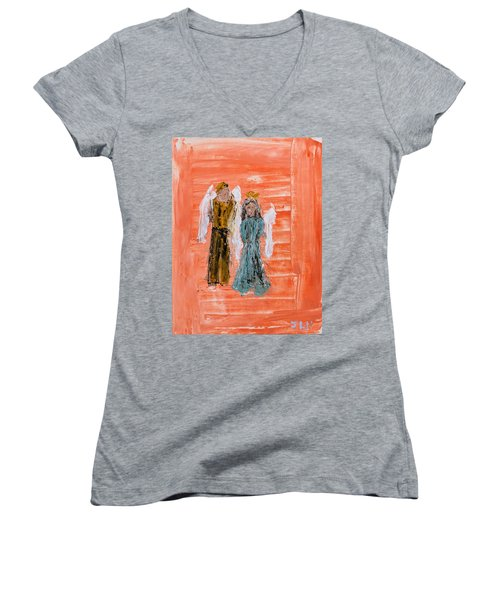 Young Love Angels Women's V-Neck