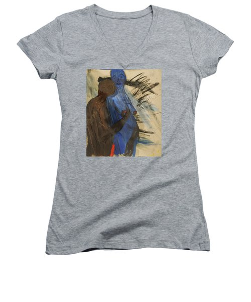Zeus And His Thunderbolt Women's V-Neck