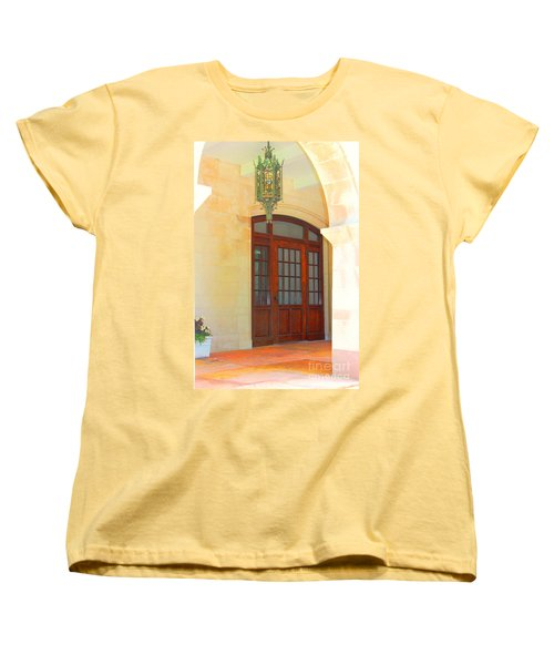 Women's T-Shirt (Standard Cut) featuring the photograph  Elegant Arched Entrance by Judy Palkimas
