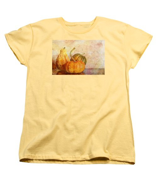 Women's T-Shirt (Standard Cut) featuring the photograph  Gourd And Pumpkins II by Heidi Smith
