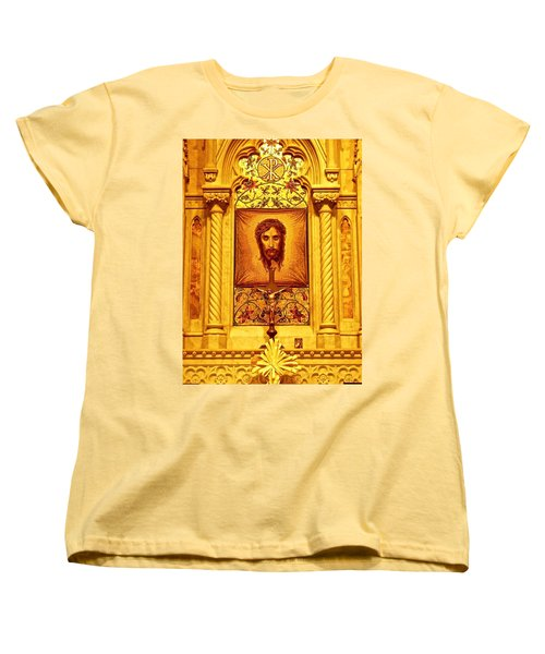 Women's T-Shirt (Standard Cut) featuring the photograph  St. Patrick Nyc  Altar by Joan Reese