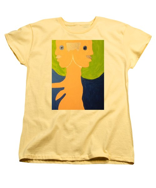 2faced Women's T-Shirt (Standard Cut) by Erika Chamberlin