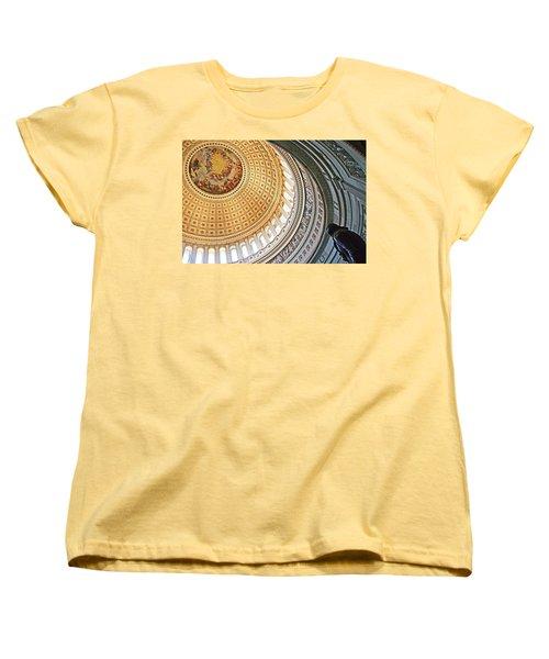 Women's T-Shirt (Standard Cut) featuring the photograph A Capitol Rotunda by Cora Wandel